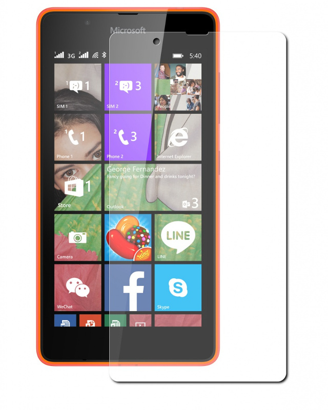 Аксессуар Защитное стекло Microsoft Lumia 540 SkinBox 0.3mm 2.5D глянцевое SP-155<br>
