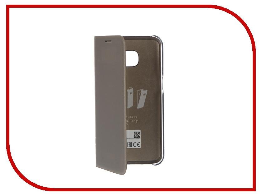 Аксессуар Чехол Samsung Galaxy S7 LED View Cover Gold EF-NG930PFEGRU<br>