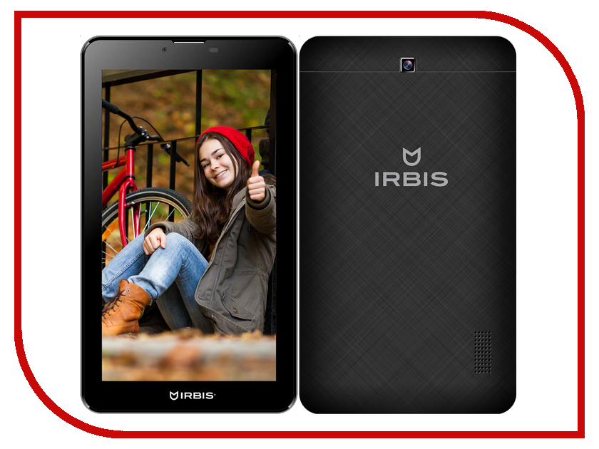Планшет Irbis TZ48 3G Black (MTK8312 1.3 GHz/512Mb/8Gb/Wi-Fi/3G/Bluetooth/GPS/Cam/7.0/1024x600/Android<br>