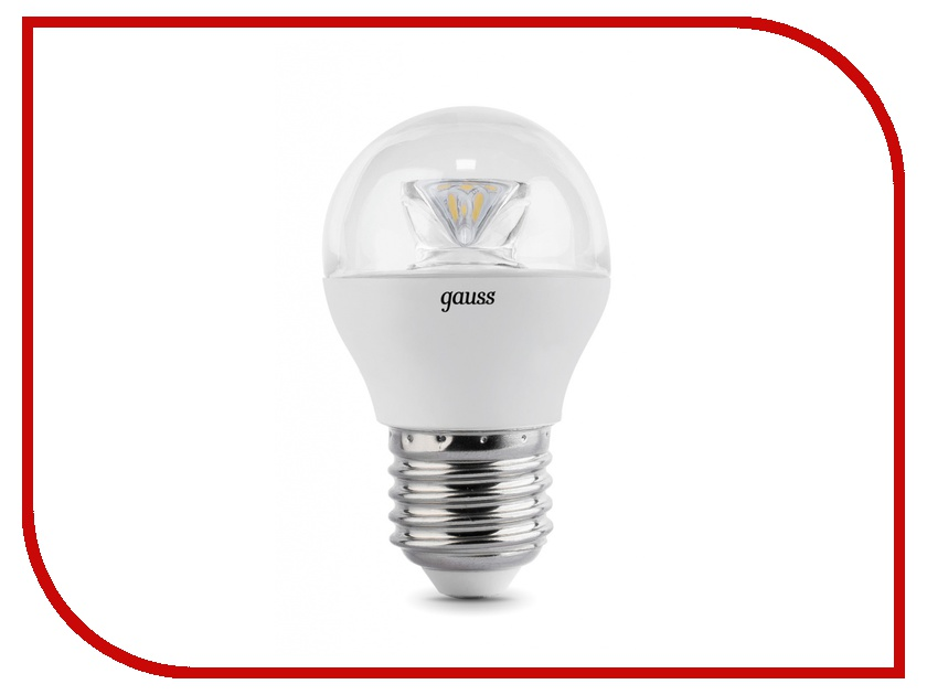 Лампочка Gauss LED Globe Crystal Clear 4W E27 2700K 105202104 лампочка gauss led globe crystal clear 4w e27 2700k 105202104