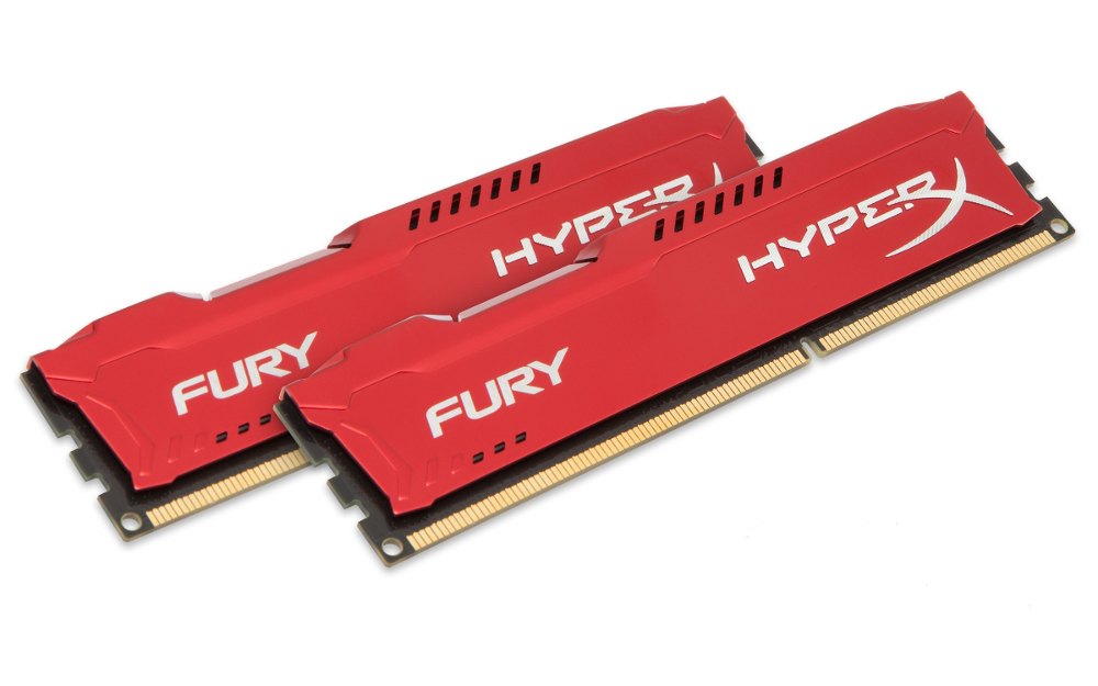 Модуль памяти Kingston HyperX Fury Red Series DDR3 DIMM 1333MHz PC3-10600 CL9 - 8Gb KIT (2x4Gb) HX313C9FRK2/8