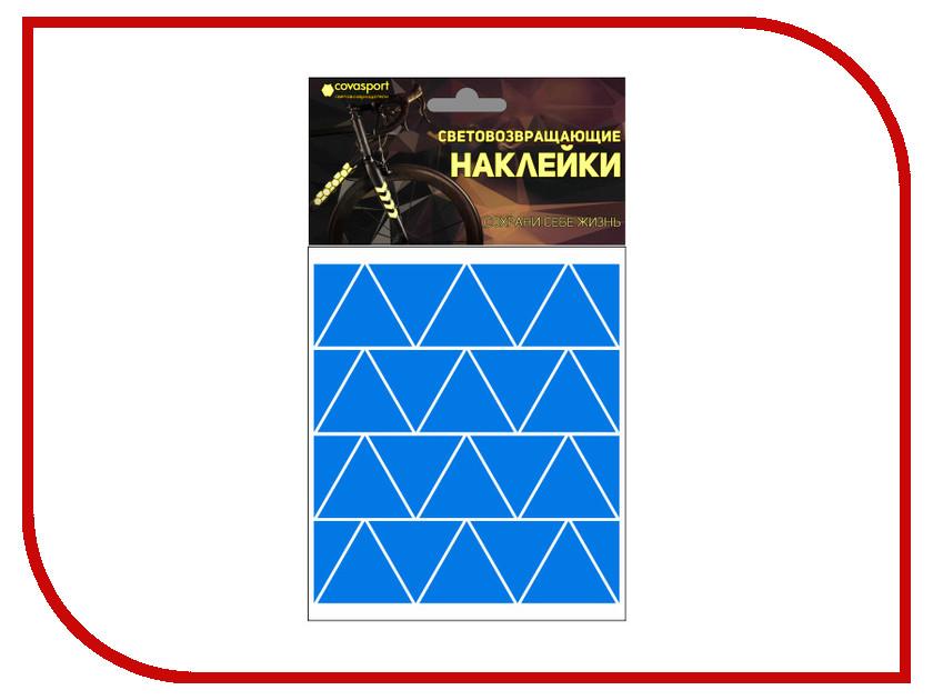 Светоотражатель Cova Sport Треугольник набор наклеек Blue 100x85mm 333-195