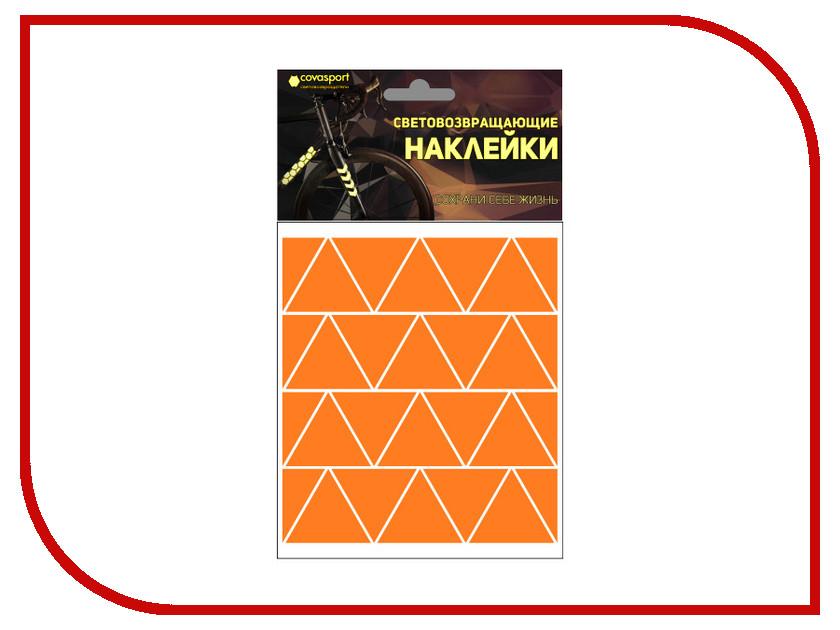 Светоотражатель Cova Sport Треугольник набор наклеек Orange 100x85mm 333-193