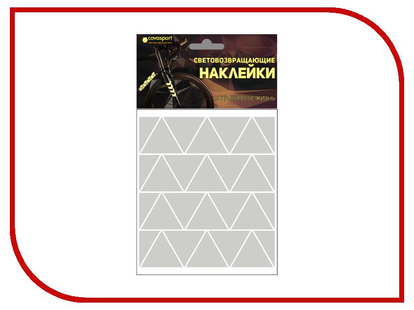 Светоотражатель Cova Sport Треугольник набор наклеек Metallic 100x85mm 333-191