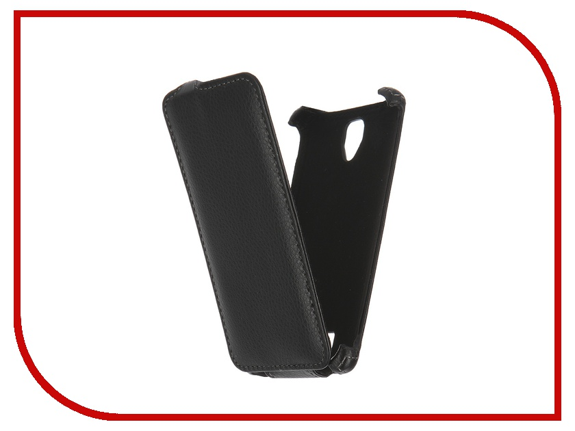 Аксессуар Чехол Lenovo A2010 Ainy / Red Line Business кожаный Black<br>