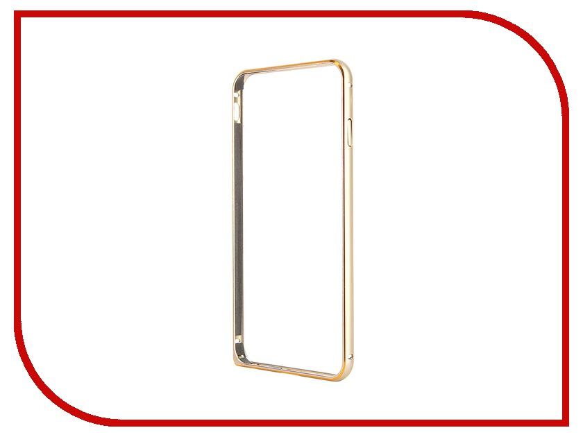 Аксессуар Чехол-бампер Ainy для iPhone 6 Plus Black QC-A014A аксессуар чехол бампер ainy for iphone 6 plus grey qc a014k