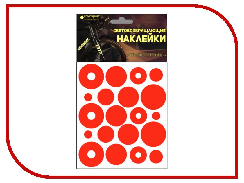 Светоотражатель Cova Sport Круг набор наклеек Red 100x85mm 333-184
