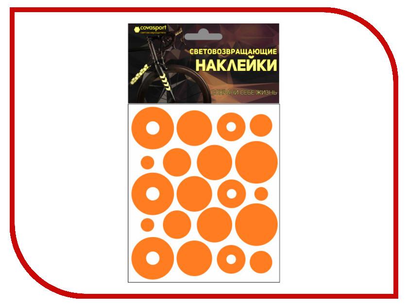 Светоотражатель Cova Sport Круг набор наклеек Orange 100x85mm 333-196