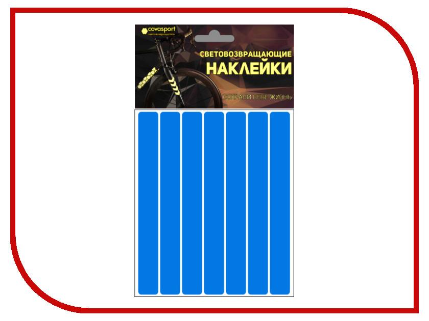 Светоотражатель Cova Sport Полоса набор наклеек Blue 100x85mm 333-180<br>
