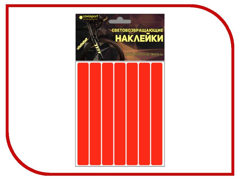 Светоотражатель Cova Sport Полоса набор наклеек Red 100x85mm 333-179<br>