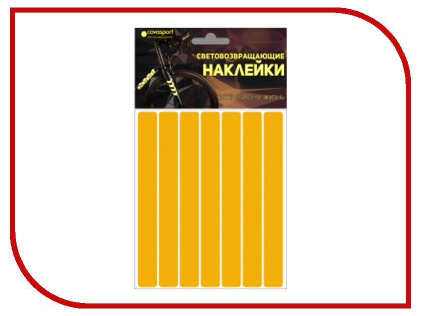Светоотражатель Cova Sport Полоса набор наклеек Yellow 100x85mm 333-177 светоотражатель cova набор термоаппликаций прямоугольники 70x70mm 333 333