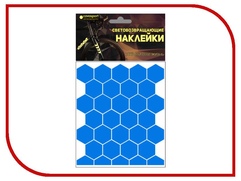 Светоотражатель Cova Sport Сота набор наклеек Blue 100x85mm 333-175
