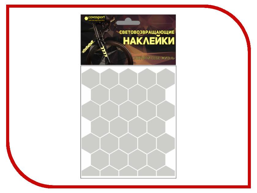 Светоотражатель Cova Sport Сота набор наклеек Metallic 100x85mm 333-171