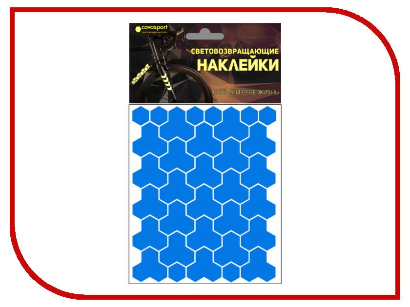 Светоотражатель Cova Sport Кристалл набор наклеек Blue 100x85mm 333-165<br>
