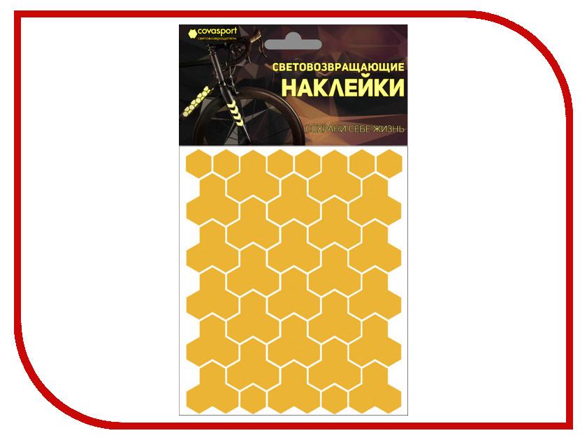 Светоотражатель Cova Sport Кристалл набор наклеек Yellow 100x85mm 333-162