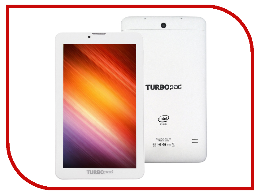 Планшет TurboPad 723 White (Intel Atom x3-C3230RK 1.2 GHz/1024Mb/8Gb/Wi-Fi/3G/Bluetooth/GPS/ГЛОНАСС/7.0/1024x600/Android)