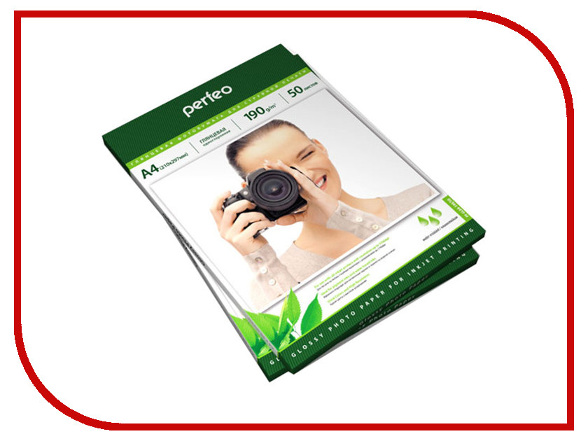 Фотобумага Perfeo PF-GLA4-190/50 A4 190g/m2 глянцевая 50 листов