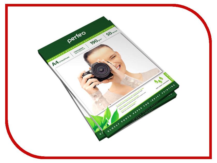 Фотобумага Perfeo PF-GLA4-190/50 A4 190g/m2 глянцевая 50 листов клатчи tuscany leather iride кожаная сумка клатч