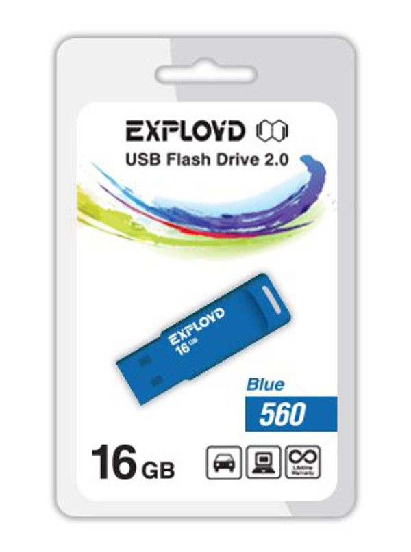 USB Flash Drive 16Gb - Exployd 560 EX-16GB-560-Blue