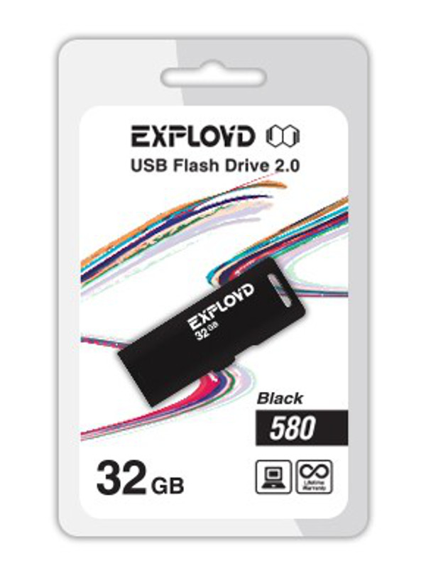 USB Flash Drive 32Gb - Exployd 580 EX-32GB-580-Black