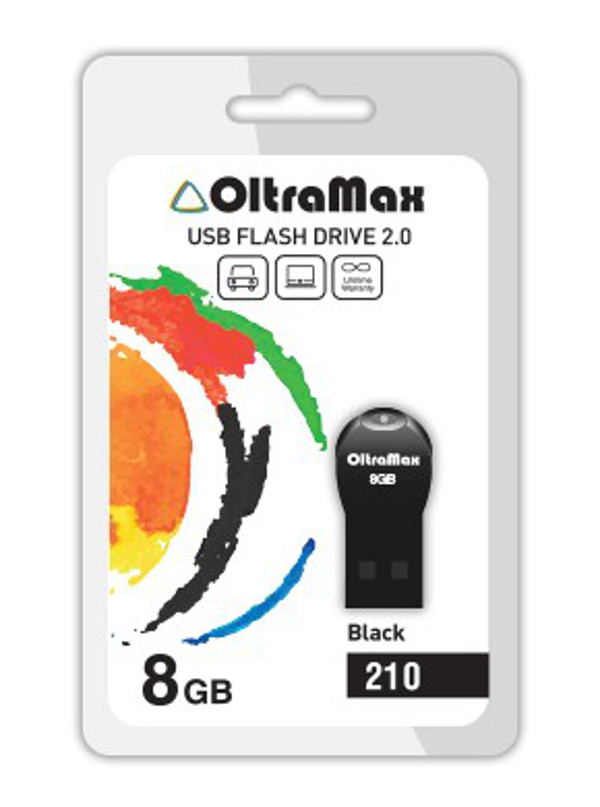 USB Flash Drive 8Gb - OltraMax 210 OM-8GB-210-Black