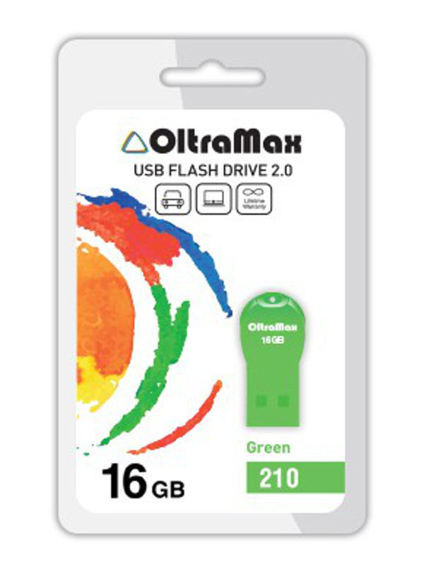 USB Flash Drive OltraMax 210 16GB Green