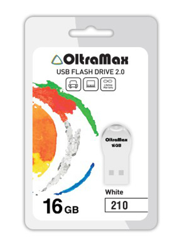 USB Flash Drive 16Gb - OltraMax 210 OM-16GB-210-White