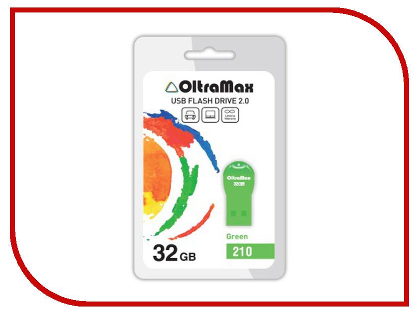 USB Flash Drive 32Gb - OltraMax 210 OM-32GB-210-Green<br>