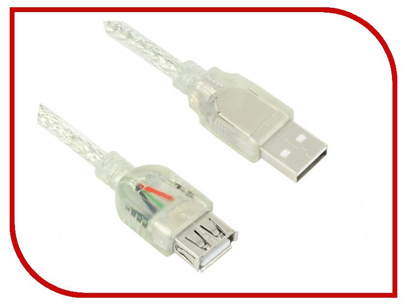 Аксессуар Greenconnect Premium USB 2.0 AM-AF Transparent GCR-UEC2M-BD2S-0.3m<br>
