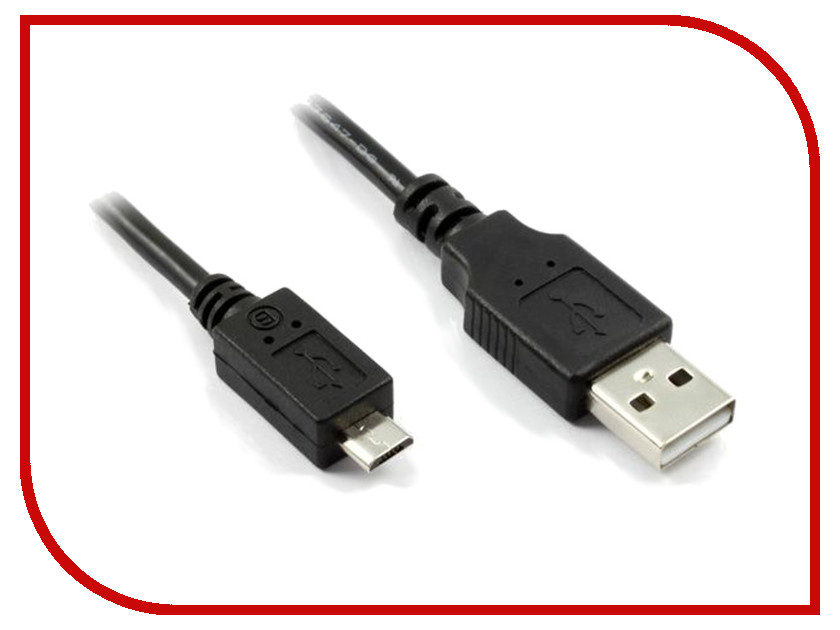 Аксессуар Greenconnect Premium USB 2.0 AM-Micro B 5pin Black GCR-UA2MCB1-BB2S-2.0m<br>