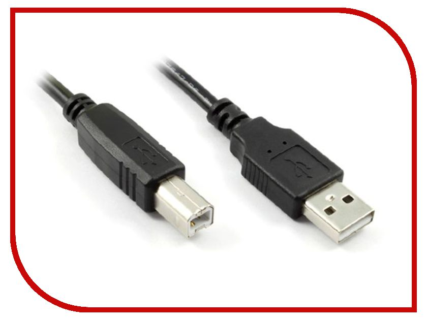 Аксессуар Greenconnect Premium USB 2.0 AM-BM Black GCR-UPC3M-BB2S-1.8m