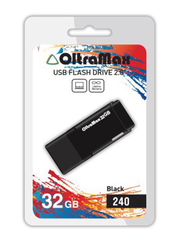 Фото - USB Flash Drive 32Gb - OltraMax 240 OM-32GB-240-Black кружка agness 240 мл с двойными стенками