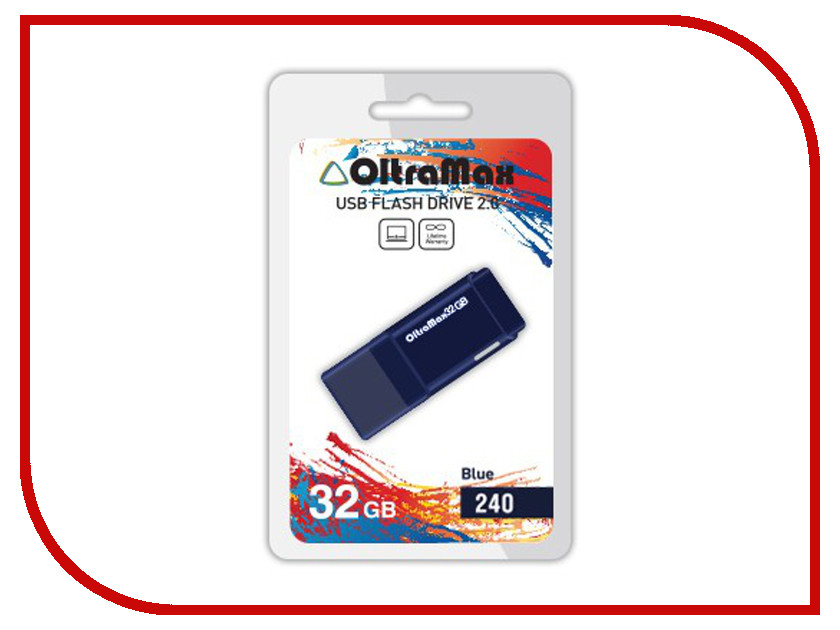 USB Flash Drive 32Gb - OltraMax 240 OM-32GB-240-Blue