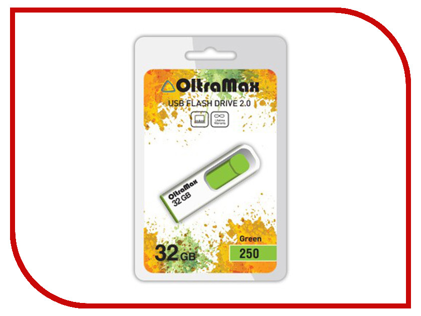 USB Flash Drive 32Gb - OltraMax 250 OM-32GB-250-Green