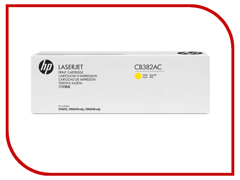 Картридж HP 382A CB382AC Yellow для CP6015DN/CP6015N/CP6015XH hewlett packard hp лазерный мфу печать копирование сканирование