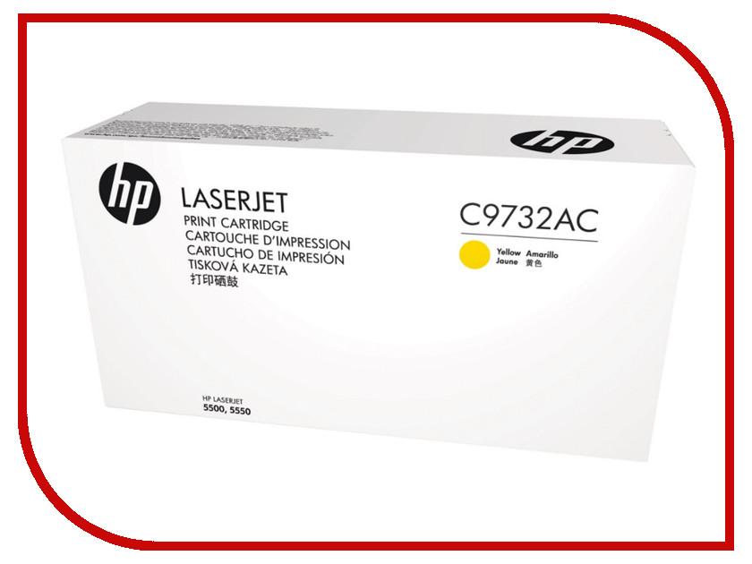 Картридж HP C9732AC Yellow hewlett packard hp лазерный мфу печать копирование сканирование