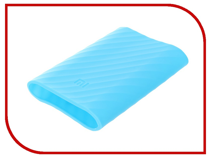 Аксессуар Чехол Xiaomi Silicone Case for Power Bank 10000 Blue<br>