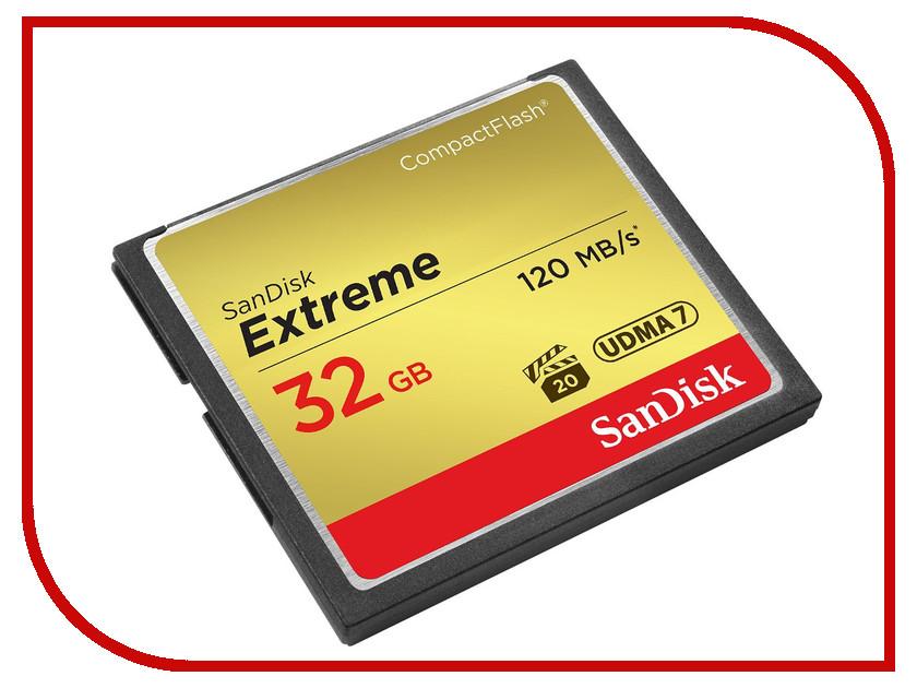 Карта памяти 32Gb - SanDisk Extreme CF 120MB/s - Compact Flash SDCFXSB-032G-G46