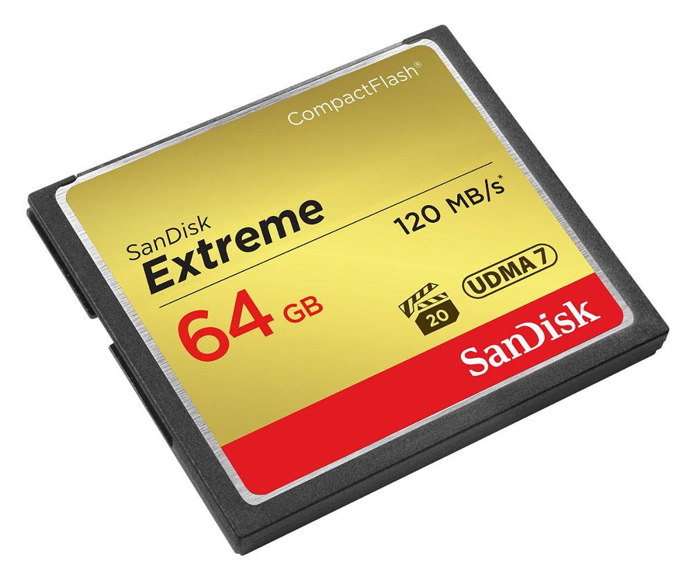 Карта памяти 64Gb - SanDisk Extreme CF 120MB/s Compact Flash SDCFXSB-064G-G46