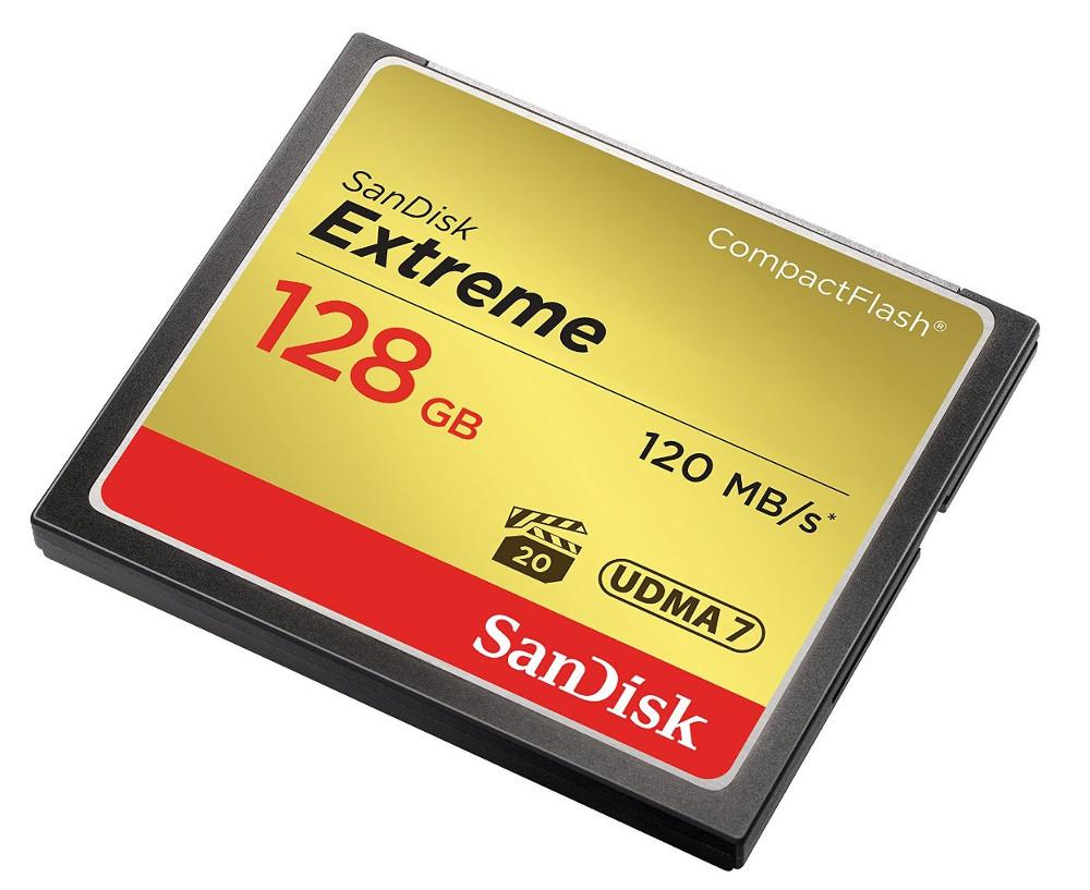 Карта памяти 128Gb - SanDisk Extreme CF 120MB/s Compact Flash SDCFXSB-128G-G46