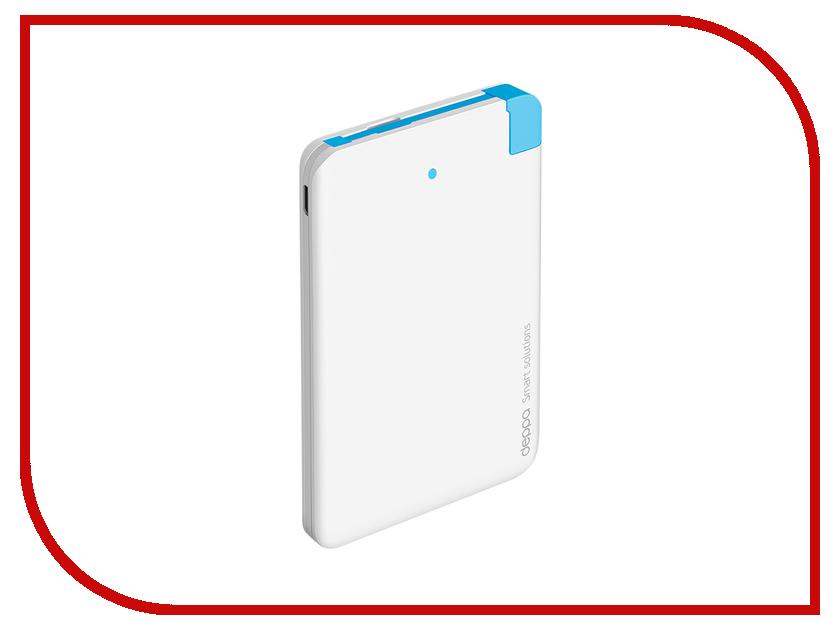 Аккумулятор Deppa NRG Slim 2500 mAh White 33507<br>