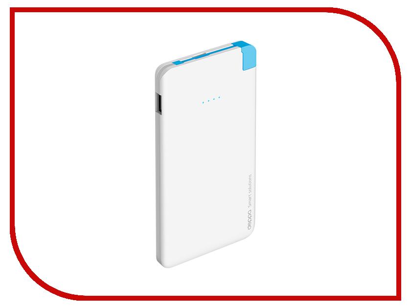 Аккумулятор Deppa NRG Slim 5000 mAh White 33508<br>