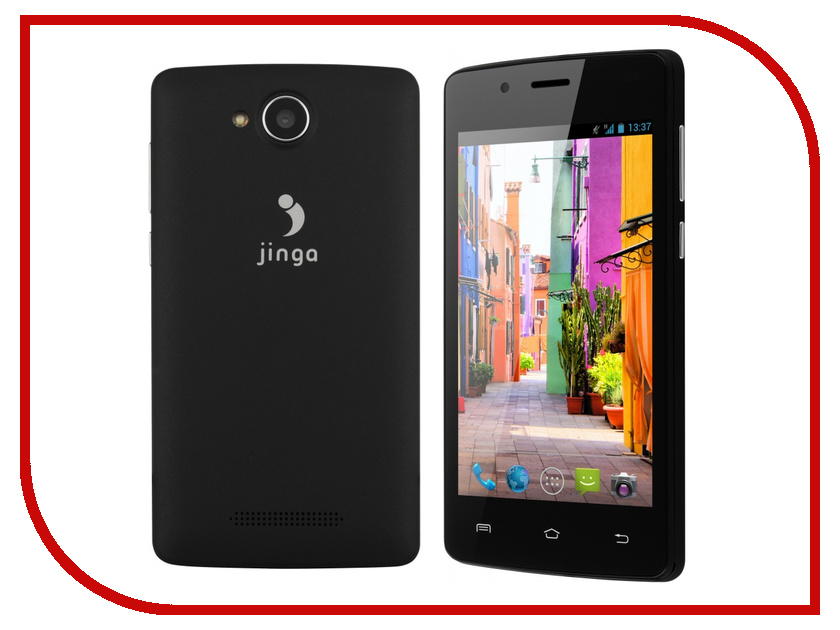Сотовый телефон Jinga Basco L400 Black смартфон jinga basco l500 3g 4gb black