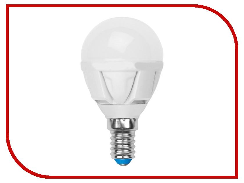Лампочка Uniel LED-G45-6W/WW/E14/FR/DIM PLP01WH лампа светодиодная uniel led cw37 6w nw e14 fr dim plp01wh