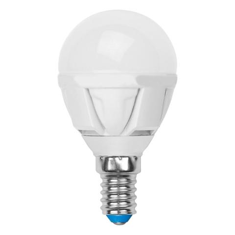 Лампочка Uniel LED-G45-6W/WW/E14/FR/DIM PLP01WH