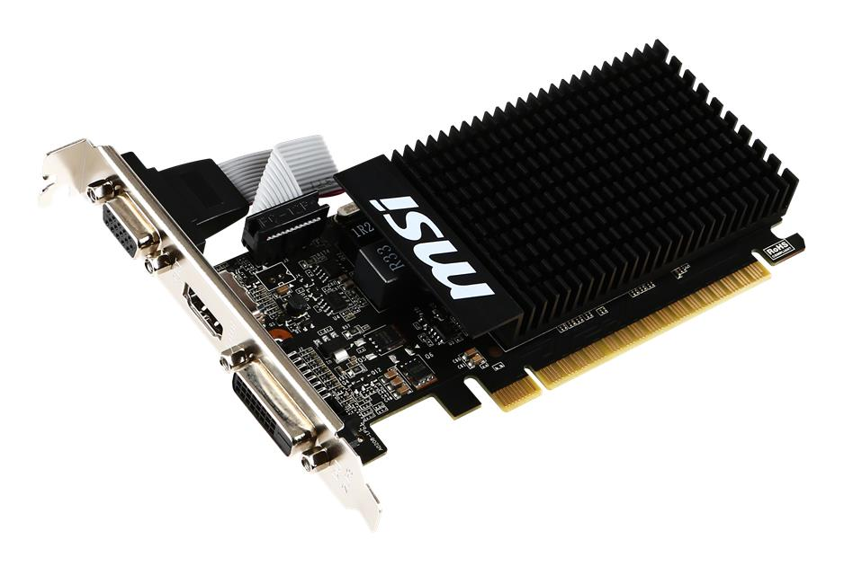 Видеокарта MSI GeForce GT 710 954Mhz PCI-E 2.0 1024Mb 1600Mhz 64 bit DVI HDMI HDCP Low Profile GT 710 1GD3H LP scott spark 710 2016