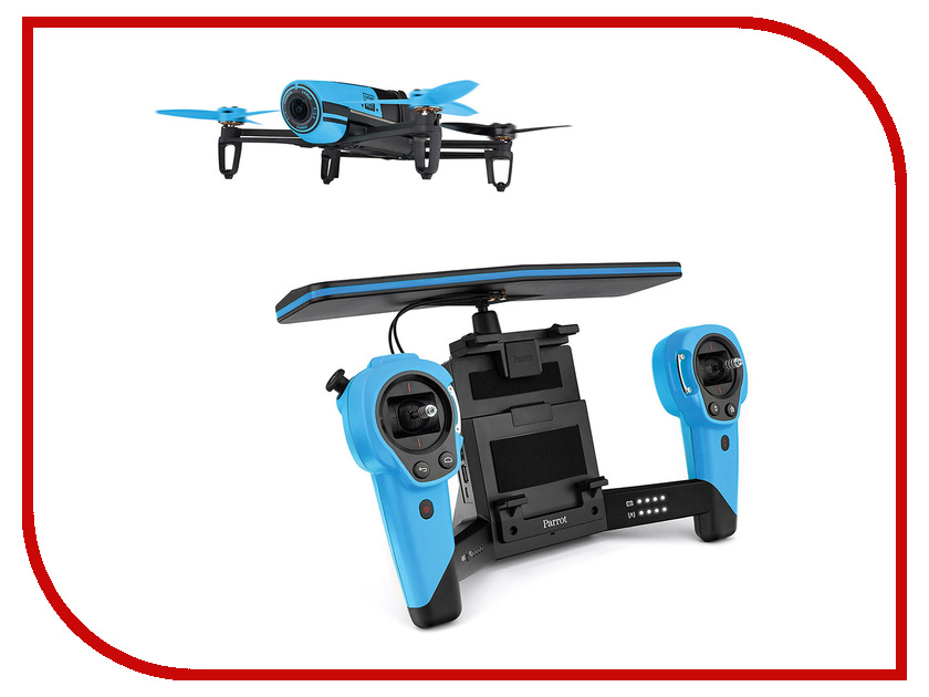Квадрокоптер Parrot Bebop Drone + Skycontroller Blue