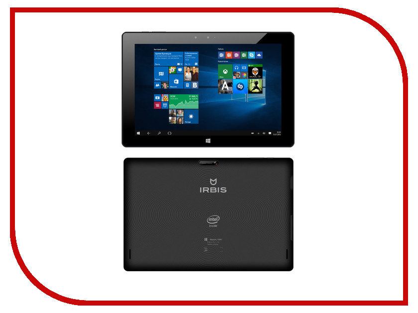 Планшет Irbis TW41 Black (Intel Atom Z3735G 1.33 GHz/1024Mb/32Gb/3G/Wi-Fi/Cam/10.1/1280x800/Windows 10)<br>