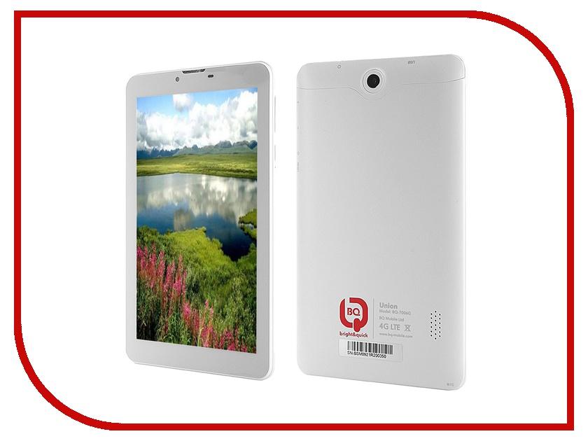 Планшет BQ BQ-7006G Union 4G White (MediaTek MT8735 1.0 GHz/1024Mb/8Gb/Wi-Fi/4G/7.0/1024x600/Android)