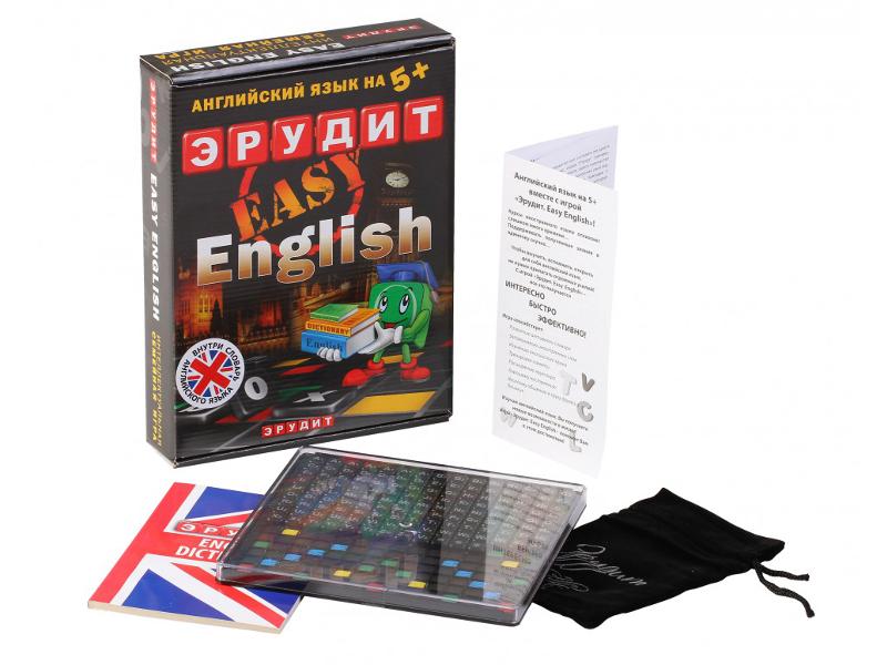 Настольная игра Биплант Эрудит Easy English 10007 настольные игры биплант настольная игра эрудит экспресс